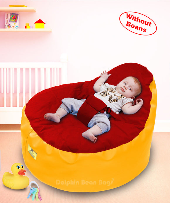 Dolphin Baby Holder Bean Bags Yellow/Red-Cover (without Beans)