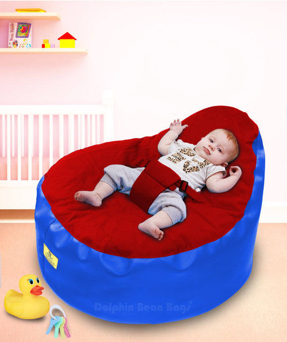 Dolphin Baby Holder Bean Bag Red/R.Blue-Filled (With Beans)