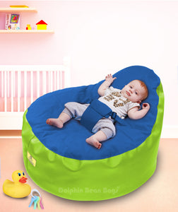 Dolphin Baby Holder Bean Bag F.Green/ROYAL -Filled (With Beans)