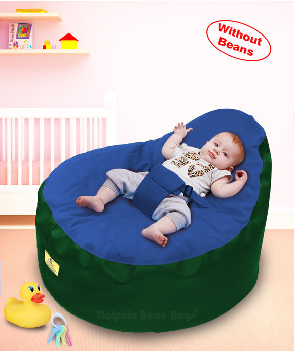 Dolphin Baby Holder Bean Bags B.Green/ROYAL Cover (without Beans)