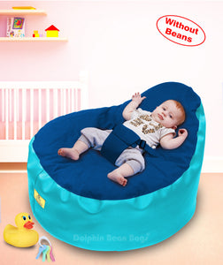 Dolphin Baby Holder Bean Bags Turquoise/R.Blue Cover (without Beans)