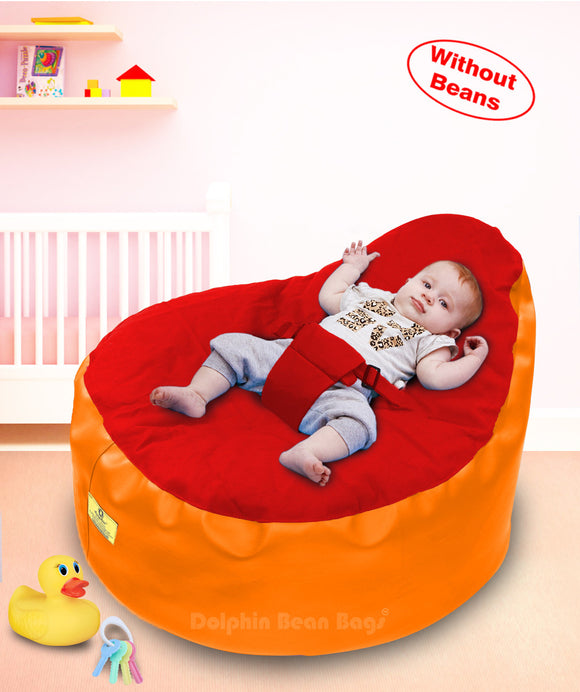 Dolphin Baby Holder Bean Bags Orange/Red Cover (without Beans)