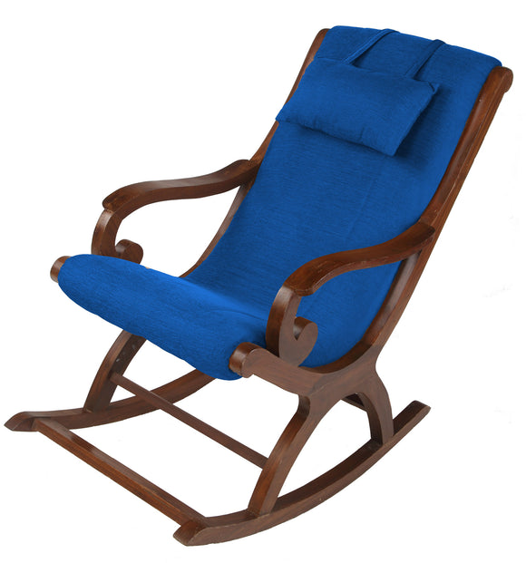 DOLPHIN ROCKING CHAIR WITH CUSHIONS-ROYAL