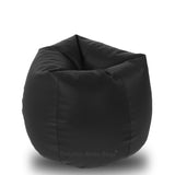 DOLPHIN Original L BEAN BAG-BLACK-With Fillers/Beans