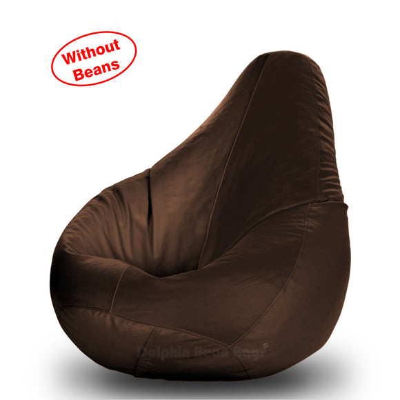 DOLPHIN L BEAN BAG-Brown-COVER (Without Beans)