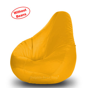 DOLPHIN L BEAN BAG-Yellow-COVER (Without Beans)