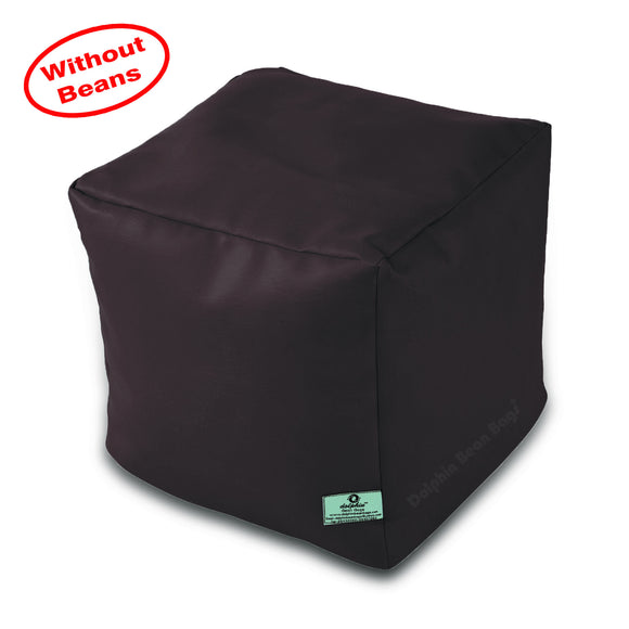 DOLPHIN SQUARE PUFFY BEAN BAG-BROWN-COVER (Without Beans)