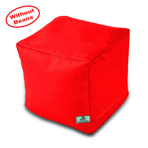 DOLPHIN SQUARE PUFFY BEAN BAG-RED-COVER (Without Beans)
