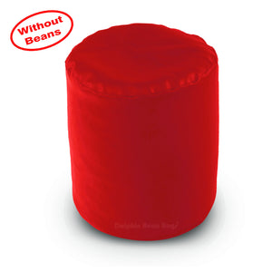 DOLPHIN ROUND PUFFY BEAN BAG-RED COVER (Without Beans)