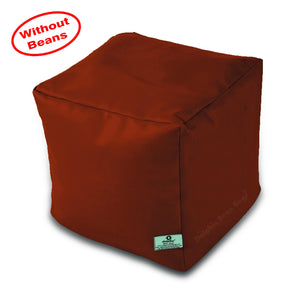 DOLPHIN SQUARE PUFFY BEAN BAG-TAN-COVER (Without Beans)