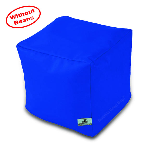 DOLPHIN SQUARE PUFFY BEAN BAG-R.BLUE-COVER (Without Beans)