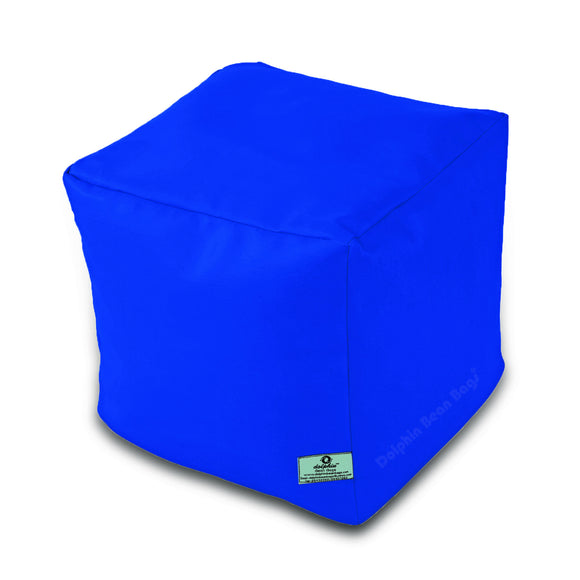 DOLPHIN SQUARE PUFFY BEAN BAG-R.BLUE-FILLED (With Beans)