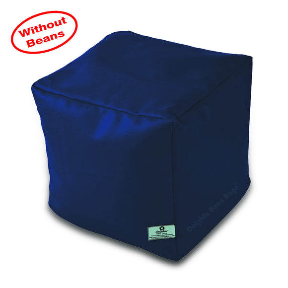 DOLPHIN SQUARE PUFFY BEAN BAG-N.BLUE-COVER (Without Beans)