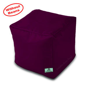 DOLPHIN SQUARE PUFFY BEAN BAG-MAROON-COVER (Without Beans)