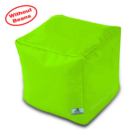 DOLPHIN SQUARE PUFFY BEAN BAG-F.GREEN-COVER (Without Beans)
