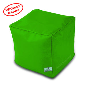 DOLPHIN SQUARE PUFFY BEAN BAG-B.GREEN-COVER (Without Beans)
