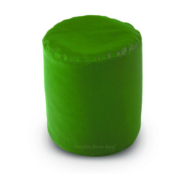 DOLPHIN ROUND PUFFY BEAN BAG-BOTTLE.GREEN-FILLED (With Beans)