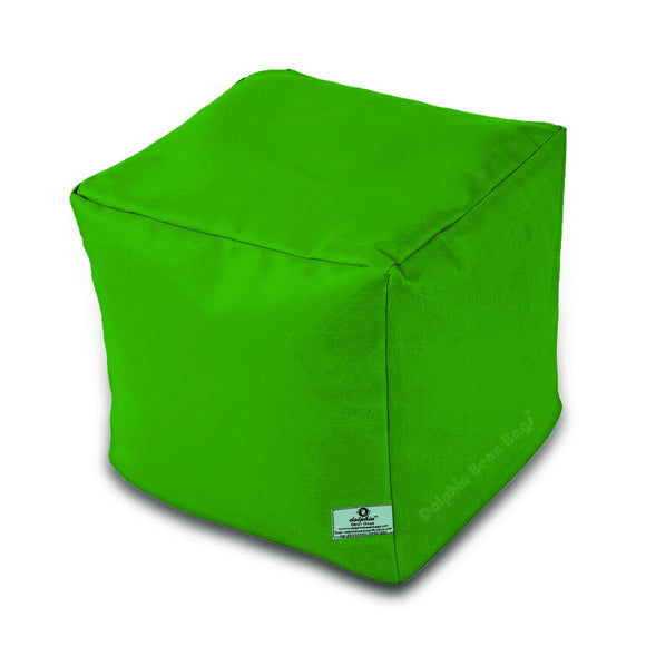 DOLPHIN SQUARE PUFFY BEAN BAG-BOTTLE.GREEN-FILLED (With Beans)