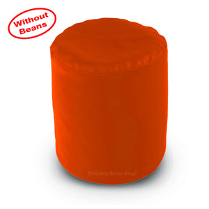 DOLPHIN ROUND PUFFY BEAN BAG-ORANGE COVER (Without Beans)