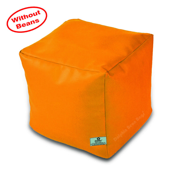 DOLPHIN SQUARE PUFFY BEAN BAG-YELLOW-COVER (Without Beans)