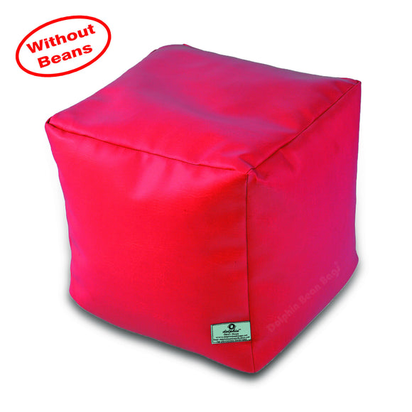 DOLPHIN SQUARE PUFFY BEAN BAG-PINK-COVER (Without Beans)