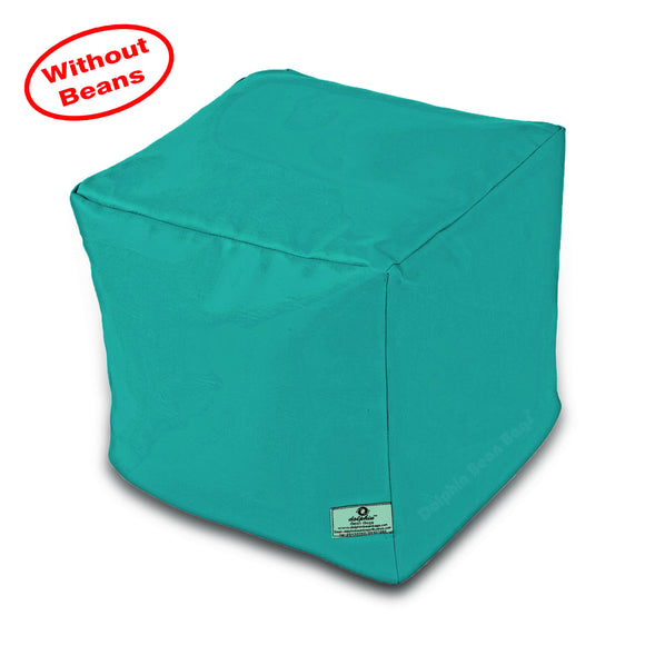 DOLPHIN SQUARE PUFFY BEAN BAG-TURQUOISE-COVER (Without Beans)