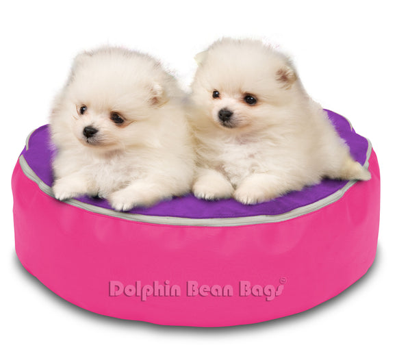 Dolphin Pets Bean Bag Pink/Purple-Filled (With Beans)