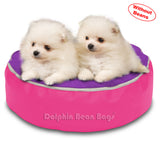 Dolphin Pets Bean Bag Pink/Purple-Cover (Without Beans)