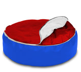 Dolphin Pets Bean Bag Red/R.Blue-Cover (Without Beans)
