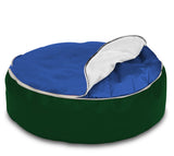 Dolphin Pets Bean Bag B.Green/ROYAL-Cover (Without Beans)