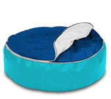 Dolphin Pets Bean Bag Turquoise/R.Blue-Cover (Without Beans)