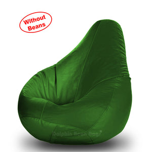 DOLPHIN S Regular BEAN BAG-B.Green-COVER (Without Beans)