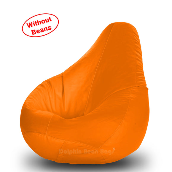DOLPHIN S Regular BEAN BAG-Orange-COVER (Without Beans)