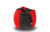 DOLPHIN Original S BEAN BAG-Black/Red -With Fillers/Beans
