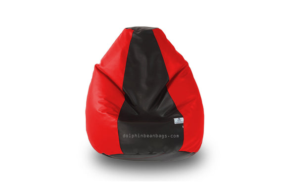 DOLPHIN Original M BEAN BAG-Black/Red-With Fillers/Beans