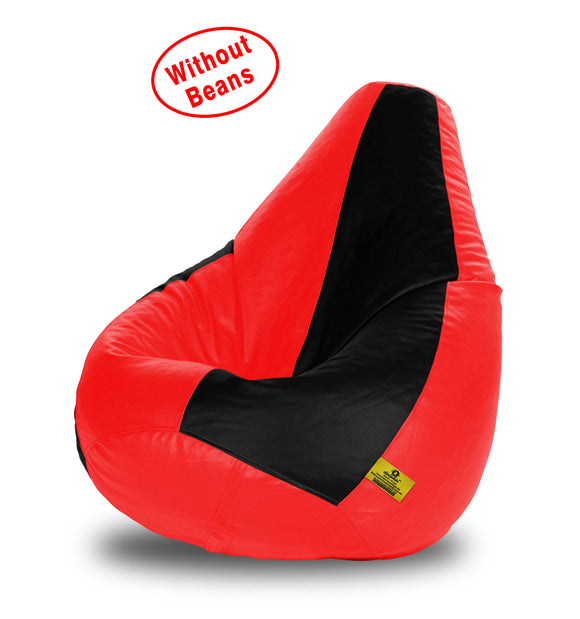 DOLPHIN XL BLACK&RED BEAN BAG-COVERS(Without Beans)