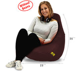 DOLPHIN XL BEAN BAG-Brown-COVER (Without Beans)