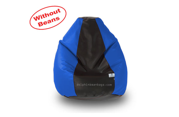 DOLPHIN M Regular BEAN BAG-Black/R.Blue-COVER (Without Beans)