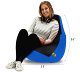 DOLPHIN XL BLACK&R.BLUE BEAN BAG-FILLED(With Beans)
