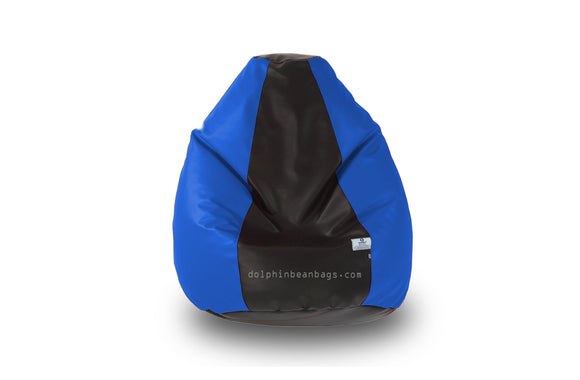 DOLPHIN Original M BEAN BAG-Black/R.Blue-With Fillers/Beans