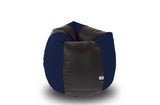DOLPHIN M Regular BEAN BAG-Black/N.Blue-COVER (Without Beans)