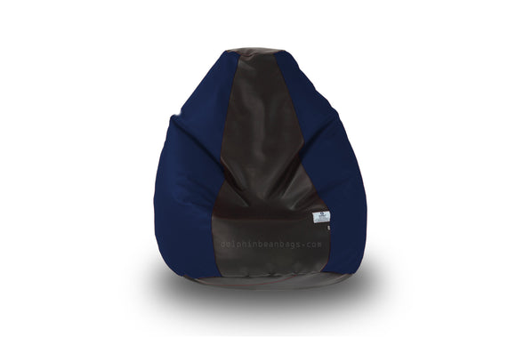 DOLPHIN Original M BEAN BAG-Black/N.Blue-With Fillers/Beans