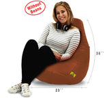 DOLPHIN XL BEAN BAG-Tan-COVER (Without Beans)