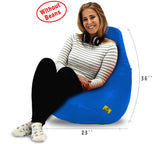 DOLPHIN XL BEAN BAG-R.Blue-COVER (Without Beans)