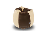 DOLPHIN S Regular BEAN BAG-Brown/Fawn-COVER (Without Beans)
