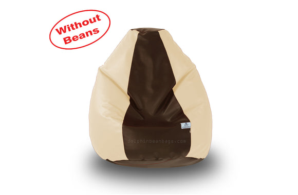 DOLPHIN L BEAN BAG-Brown/Fawn-COVER (Without Beans)
