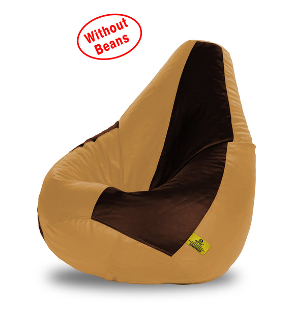 DOLPHIN XL BROWN&FAWN BEAN BAG-COVERS(Without Beans)