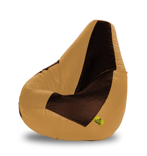 DOLPHIN XL BROWN&BEIGE BEAN BAG-FILLED(With Beans)