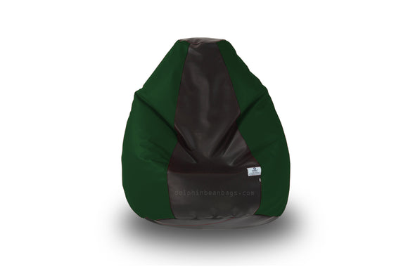 DOLPHIN Original M BEAN BAG-Black/B.Green-With Fillers/Beans