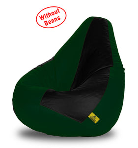 DOLPHIN XL BLACK&B.GREEN BEAN BAG-COVERS(Without Beans)